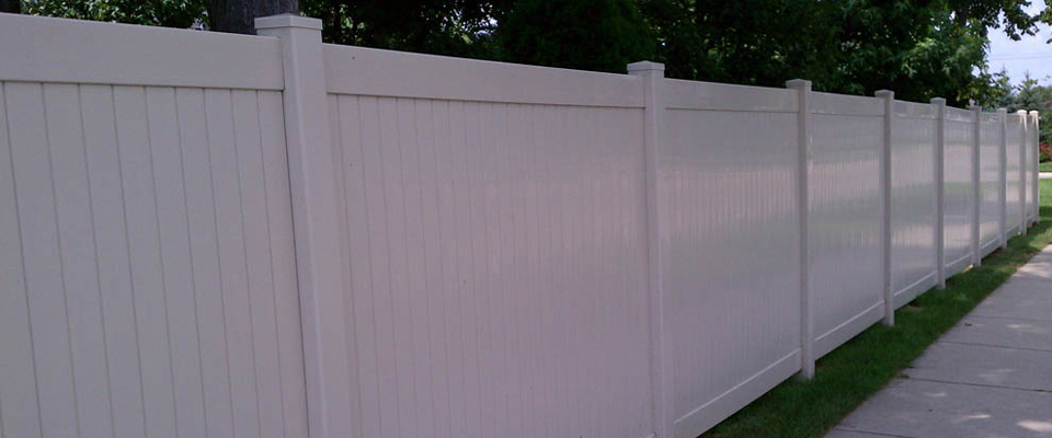 Vinyl fencing offers maintenance free living.